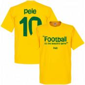 Brasilien T-shirt 10 Football Its the Beautiful Game Pele Gul XS