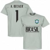 Brasilien T-shirt Brazil A Becker 1 Team GK Grå S