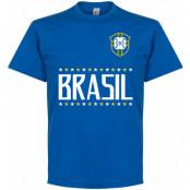 Brasilien T-shirt Brazil Blå S