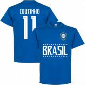 Brasilien T-shirt Brazil Coutinho 11 Team Philippe Coutinho Blå S