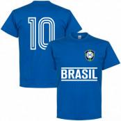 Brasilien T-shirt Brazil Team No10 Blå S