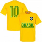 Brasilien T-shirt Brazil Team No10 Gul XS