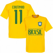 Brasilien T-shirt Coutinho 11 Team Philippe Coutinho Gul XS