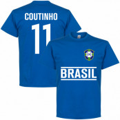 Brasilien T-shirt Coutinho Team Philippe Coutinho Blå S