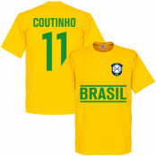Brasilien T-shirt Coutinho Team Philippe Coutinho Gul XS