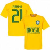 Brasilien T-shirt Firminho 21 Team Gul XS