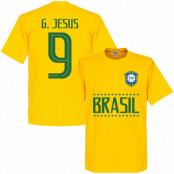 Brasilien T-shirt G Jesus 9 Team Gabriel Jesus Gul XS