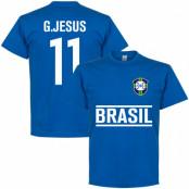 Brasilien T-shirt Gabriel Jesus Blå S