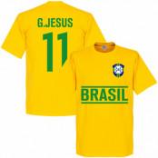 Brasilien T-shirt Gabriel Jesus Gul XS