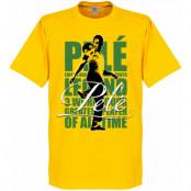 Brasilien T-shirt Legend Legend Pele Gul XS