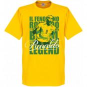Brasilien T-shirt Legend Luis Nazario de Lima Legend Ronaldo Gul XS