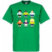 Brasilien T-shirt Legend Pixel Players Grön XS