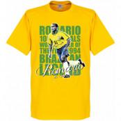 Brasilien T-shirt Legend Romario Legend -Yellow Gul XS