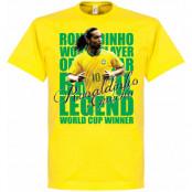Brasilien T-shirt Legend Ronaldinho Legend Gul XS