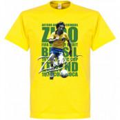 Brasilien T-shirt Legend Zico Legend Gul XS