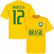 Brasilien T-shirt Marcelo 12 Team Gul XS