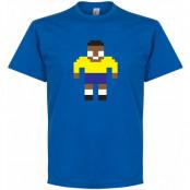 Brasilien T-shirt Pelé Legend Pixel Player Pele Blå S
