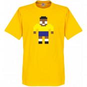Brasilien T-shirt Pelé Legend Pixel Player Pele Gul XS
