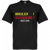 Tyskland T-shirt Brasilien 1  Deutschland 7 Scoreboard Svart XS