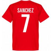 Chile T-shirt Sanchez Football Alexis Sanchez Röd XS