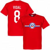 Chile T-shirt Vidal Arturo Vidal Röd XS