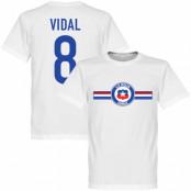 Chile T-shirt Vidal Arturo Vidal Vit XS
