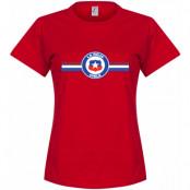 Chile T-shirt Vidal Dam Röd S