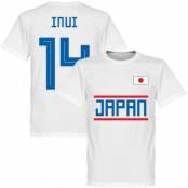 Japan T-shirt Inui 14 Team Vit XS