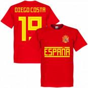 Spanien T-shirt 19 Team Diego Costa Röd XS
