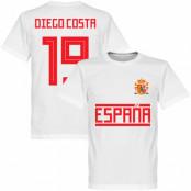 Spanien T-shirt 19 Team Diego Costa Vit XS