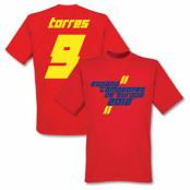 Spanien T-shirt 2012 Torres Campeones Graphic Fernando Torres Röd S