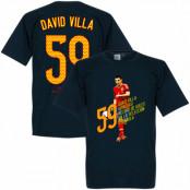 Spanien T-shirt 59 Goals David Villa Mörkblå S