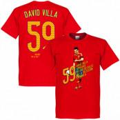 Spanien T-shirt 59 Goals David Villa Röd XS