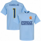 Spanien T-shirt Casillas Team Iker Casillas Ljusblå XS