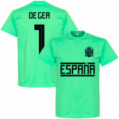 Spanien T-shirt De Gea 1 Team Blå S