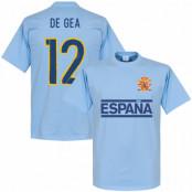 Spanien T-shirt De Gea Team Ljusblå XS