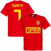Spanien T-shirt Morata 7 Team Röd XS