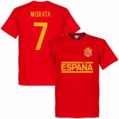 Spanien T-shirt Morata Team Röd XS