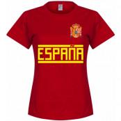 Spanien T-shirt Team Dam Röd S