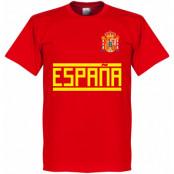 Spanien T-shirt Team Röd XS