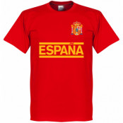 Spanien T-shirt Team Red Röd XS