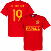 Spanien T-shirt Team Team Diego Costa Röd XS