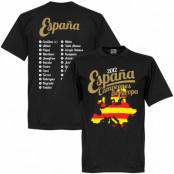 Spanien T-shirt Winners 2012 Campeones Squad Svart XS