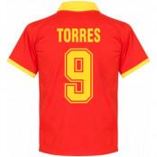 Spanien Tröja 1970s Home Fernando Torres Retro Röd S