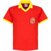 Spanien Tröja 1970s Home Retro Shirt Röd S
