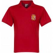 Spanien Tröja Home Retro Röd S