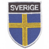Sverige Broderat Märke Flaggs