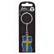 Sverige Nyckelring Flag