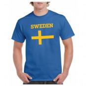 Sverige T-shirt Flag Blå S