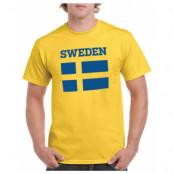 Sverige T-shirt Flag Gul S